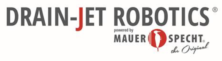Logo: DRAIN-JET ROBOTICS powered by Mauerspecht – The Original